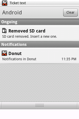 Notifications in Donut 1.6