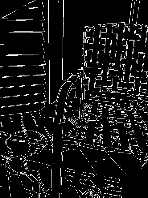 Canny edge detection image