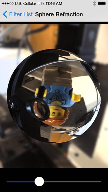 实践中的球形折射滤镜!